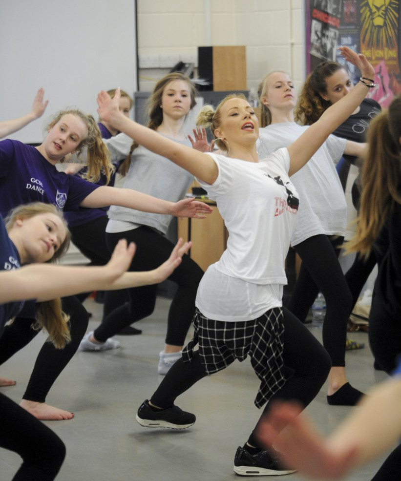 03/04/14 Thriller workshop Melbourn Village College