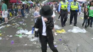 9 Year Old MJ Performer On Parade Route