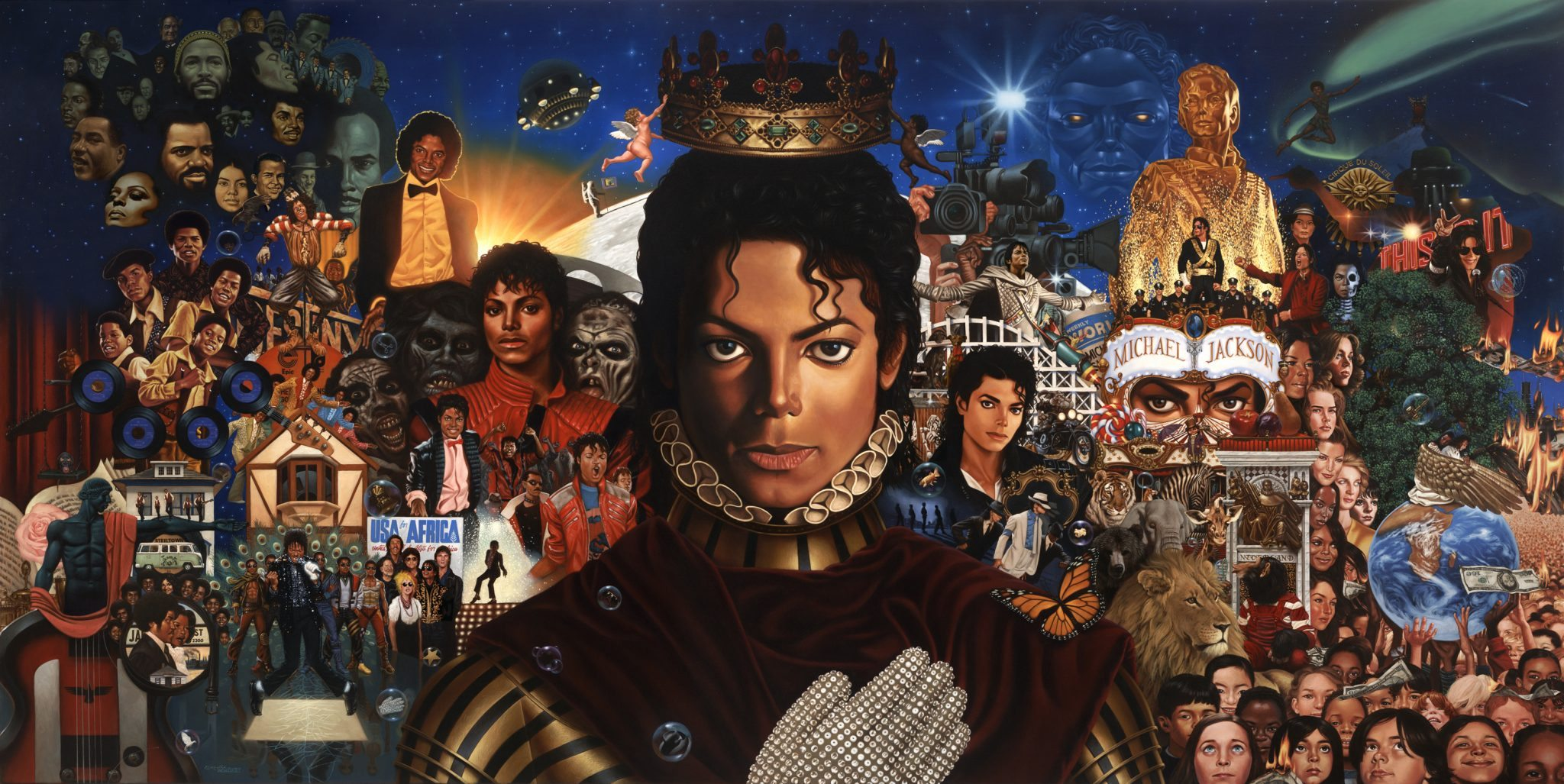 39 michael 39 art best cover michael jackson world network for Jackson 5 mural