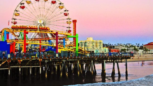 sunset-at-the-santa-monica-pier-fine-art-by-lynn-bauer-lynn-bauer