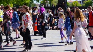 Funky Zombies Dance In Christchurch