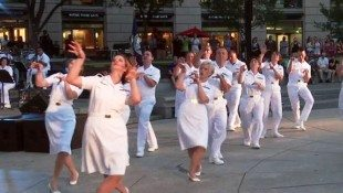 Navy Band Performs 'Thriller' Dance