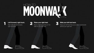 Learn How To Moonwalk Infographic