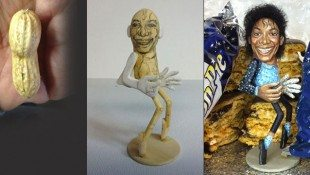 Peanut Sculpture Of Michael Jackson