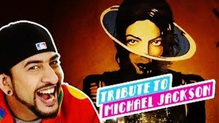 Rob's MJ Tribute Paints The Town Gold!