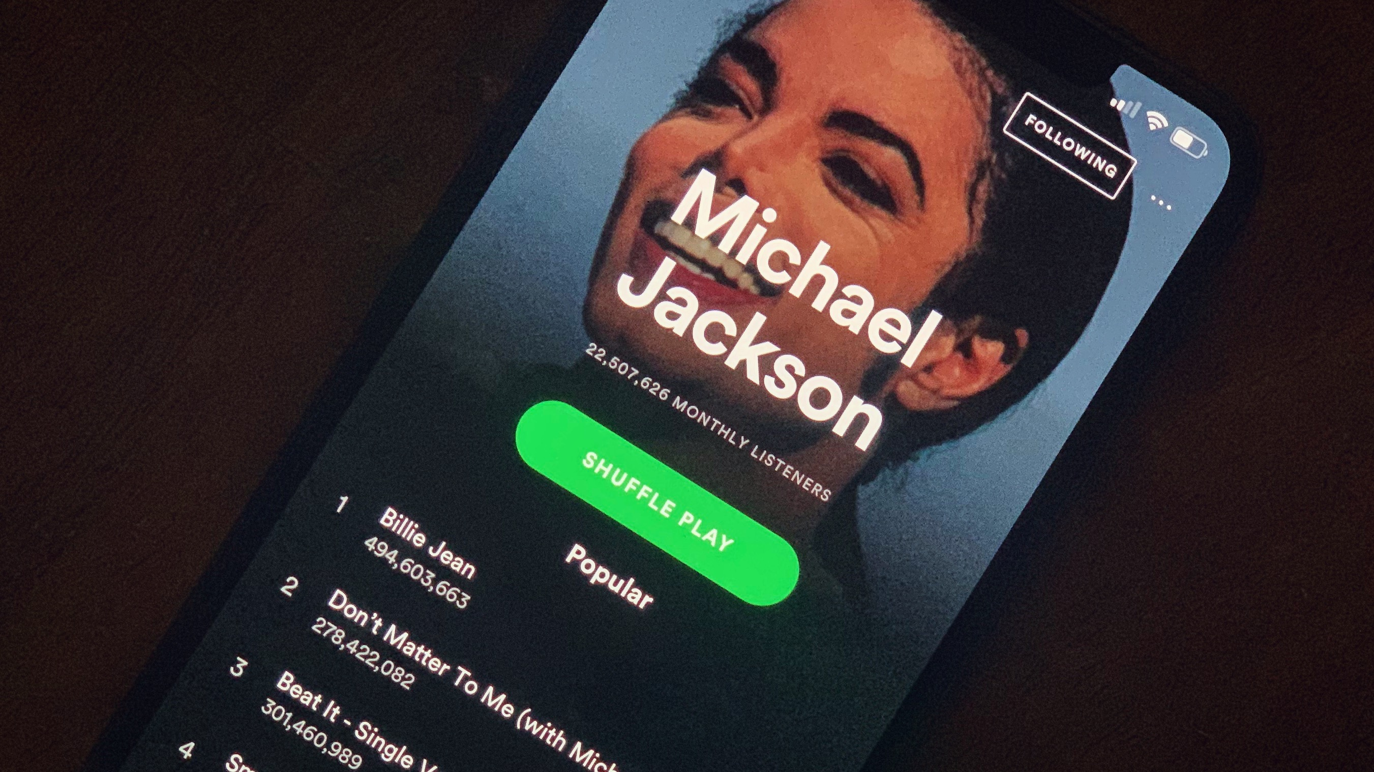 Michael's Streaming Popularity