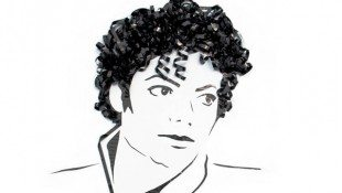 MJ Artwork Made From Cassette Tape
