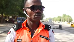 Nigeria's MJ Directs Traffic In Maiduguri